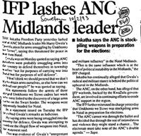 IFP lashes ANC Midlands leader