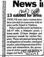 News Il 13 nabbed for arms