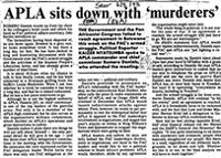 APLA sits down with 'murderers'