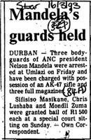 Mandela's guards held