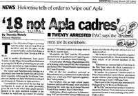 '18 not Apla cadres'