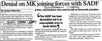 Denial on MK joining forces with SADF
