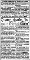 Quatro deaths 'in main from disease'