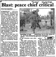 Blast: peace chief critical