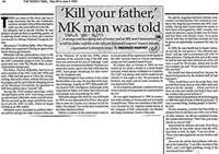 'Kill your father,' MK man was told