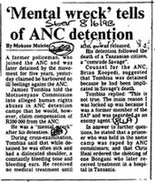 'Mental wreck' tells of ANC detention