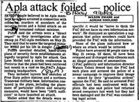Apla attack foiled - police