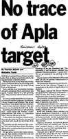 No trace of Apla target