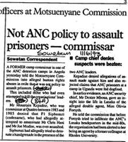Not ANC policy to assault prisoners - commissar