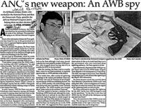ANC's new weapon: an AWB spy