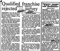 Qualified franchise rejected - survey