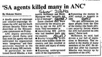 'SA agents killed many in ANC'