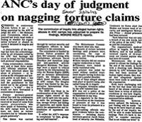 ANC's day of judgment on nagging torture claims