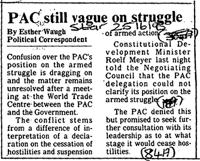 PAC still vague on struggle