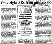 Only eight AKs from amnesty