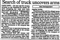 Search of truck uncovers arms