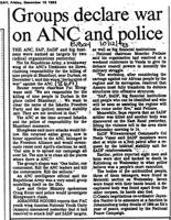 Groups declare war on ANC and police