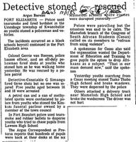 Detective stoned rescued