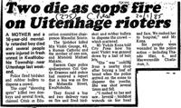 Two die as cops fire on Uitenhage rioters