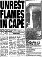 Unrest flames in Cape