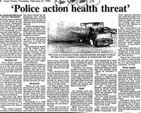 'Police action health threat'