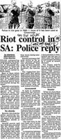 Riot control in SA: police reply