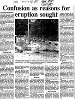 Confusion as reasons for eruption sought
