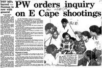 PW orders inquiry on E Cape shootings