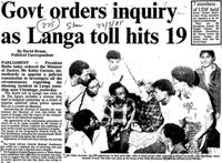 Govt orders inquiry as Langa toll hits 19