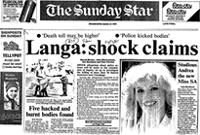 Langa: shock claims