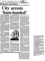 City arrests 'ham-handed'