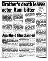 Brother's death leaves actor Kani bitter