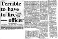 Terrible to have to fire --- officer