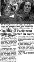 Chaining to Parliament railings: Women in court