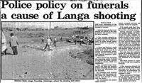 Police policy on funerals a cause of Langa shooting