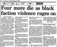 Four more die as black faction violence rages on
