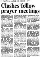 Clashes follow prayer meetings