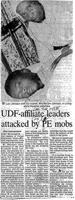UDF - affiliate leaders attacked by PE mobs