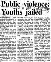 Public violence: Youths jailed