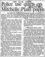 Police use quirts on Mitchells Plain pupils
