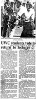 UWC students vote to return to lectures
