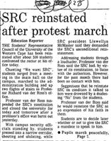 SRC reinstated after protest march