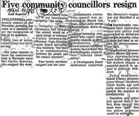 Five community councillors resign