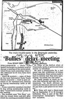 Bullies delay meeting