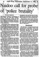 Naidoo call for probe of police brutality