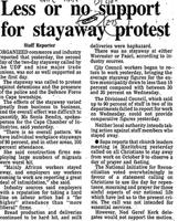 Less or no support for stayaway protest