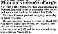 Man on violence charge