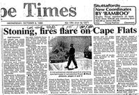Stoning, fires flare on Cape Flats