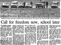 Call for freedom now, school later