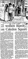 22 women march on Caledon Square